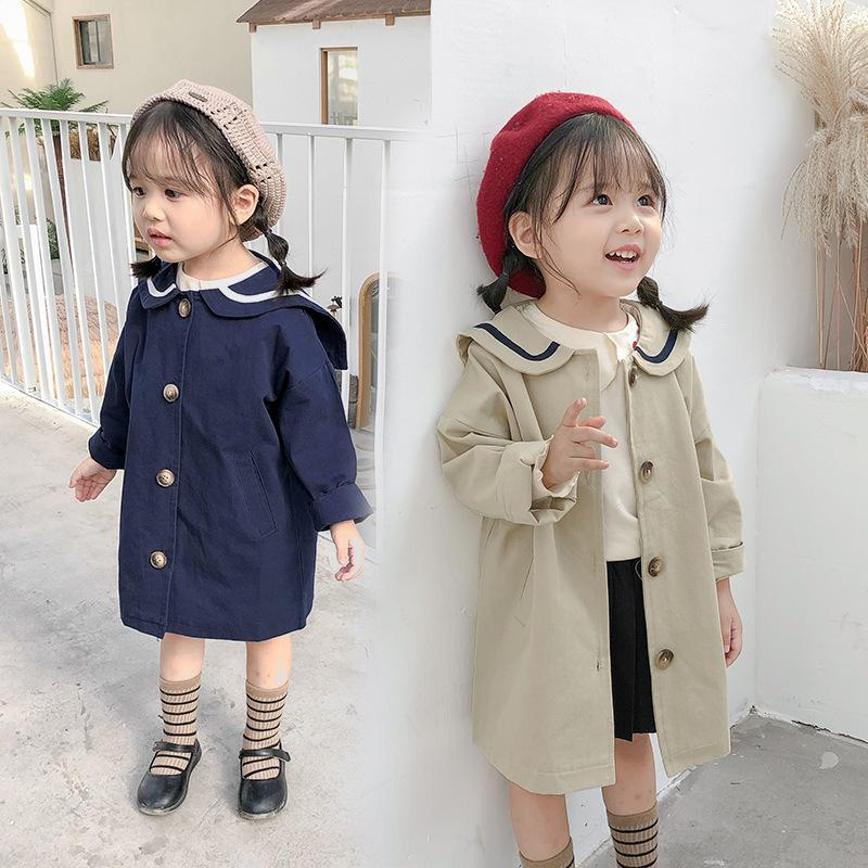 children's wear Korean children's autumn coat boys and girls college wind two-color kids jackets for girls Y200901