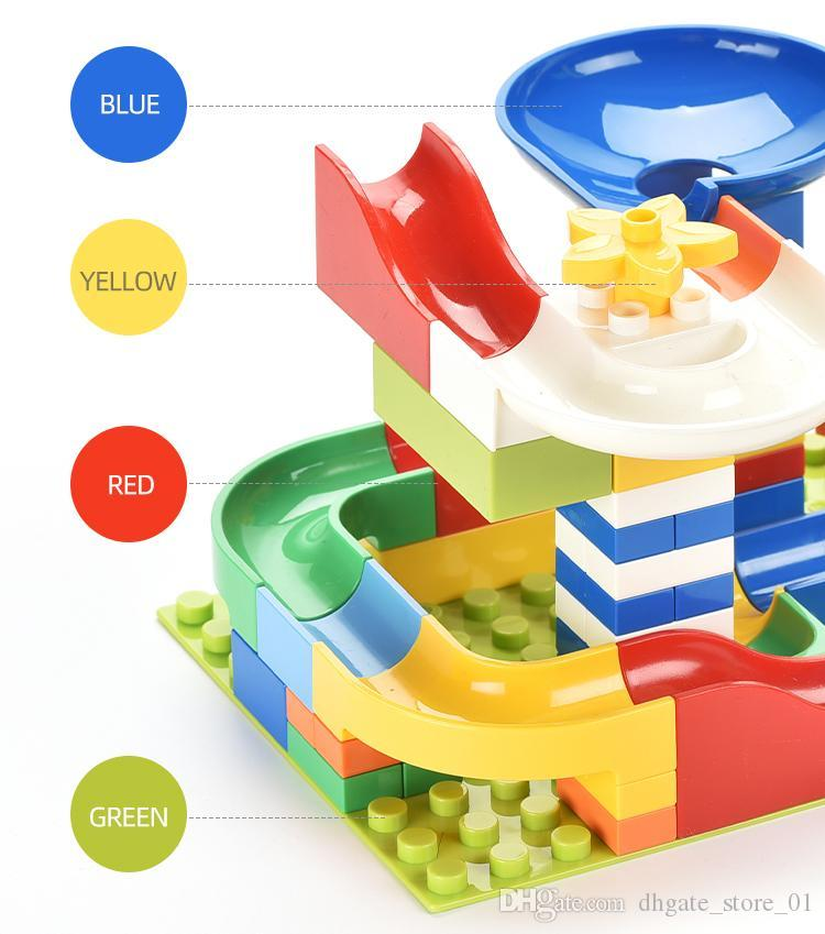 balls track building blocks various interesting shapes assembly display diy various rolling route creative design for kids imagination 03