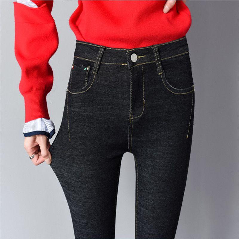 Skinny jeans donna 2020 New Spring Fashion Fidanzato Lavato Elastic Denim pantaloni sottili della matita pantaloni di Capris imitazione Jean Femme