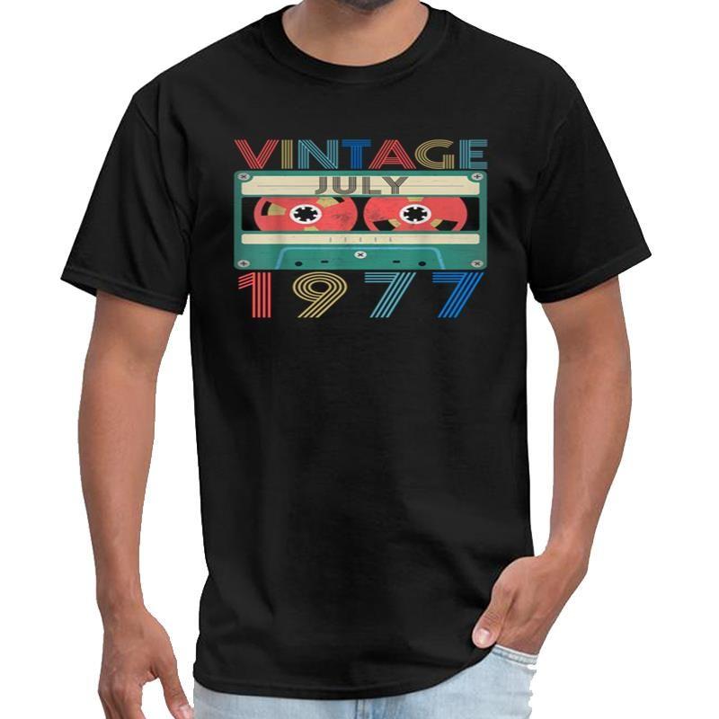 Personalizzato retrò vintage luglio 1977, compleanno Westfalia t shirt uomo e donna ropa anime maglietta XXXL 4XL 5XL naturale