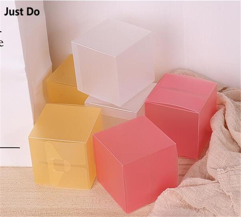 8*8*8cm pink plastic candy packaging gift boxes 8x8x8cm cube paper box for cosmetic gift candy package black blank boxes packing