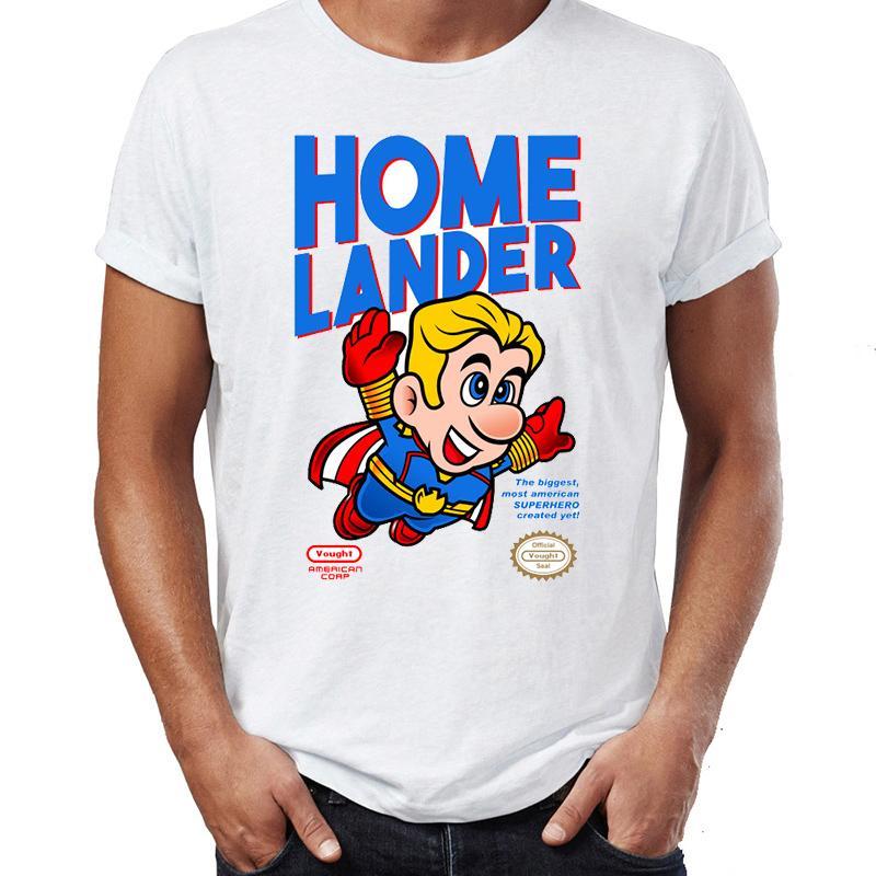 Maglietta degli uomini The Boys Super Homelander impressionante Opera disegno stampato Tee