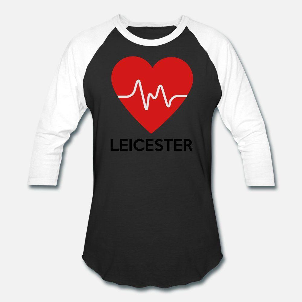 Cuore Leicester uomini della maglietta di stampa 100% cotone Camicia convenzionale S-XXXL Trend Fitness Nuovo stile di stile di estate