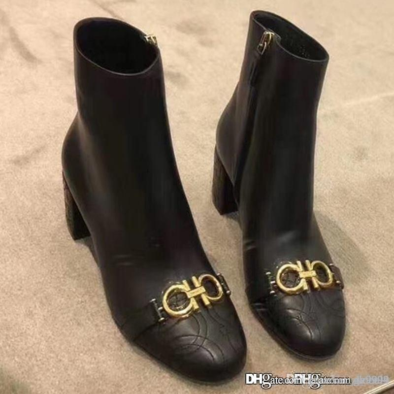 حار المرأة GANCINI bootie حذاء فاخر مصمم أحذية نسائية أحذية موضة أحذية الكاحل أعلى جودة 01Q133 714651 بوتاس قرطاس دي موهير