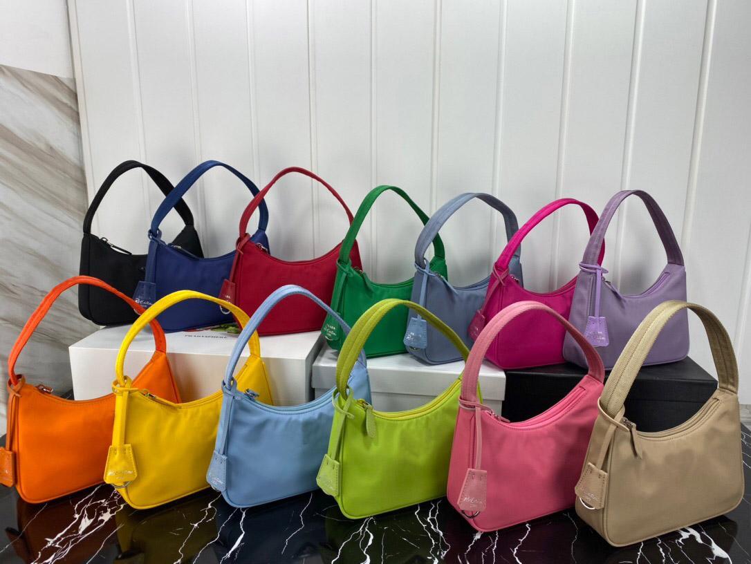 Mode neue heiße verkaufen hohe wasserdichte 2020 15 tasche farbe leder echte unterarm qualität hobo dame handtasche nylon tasche mit designer hand bplv