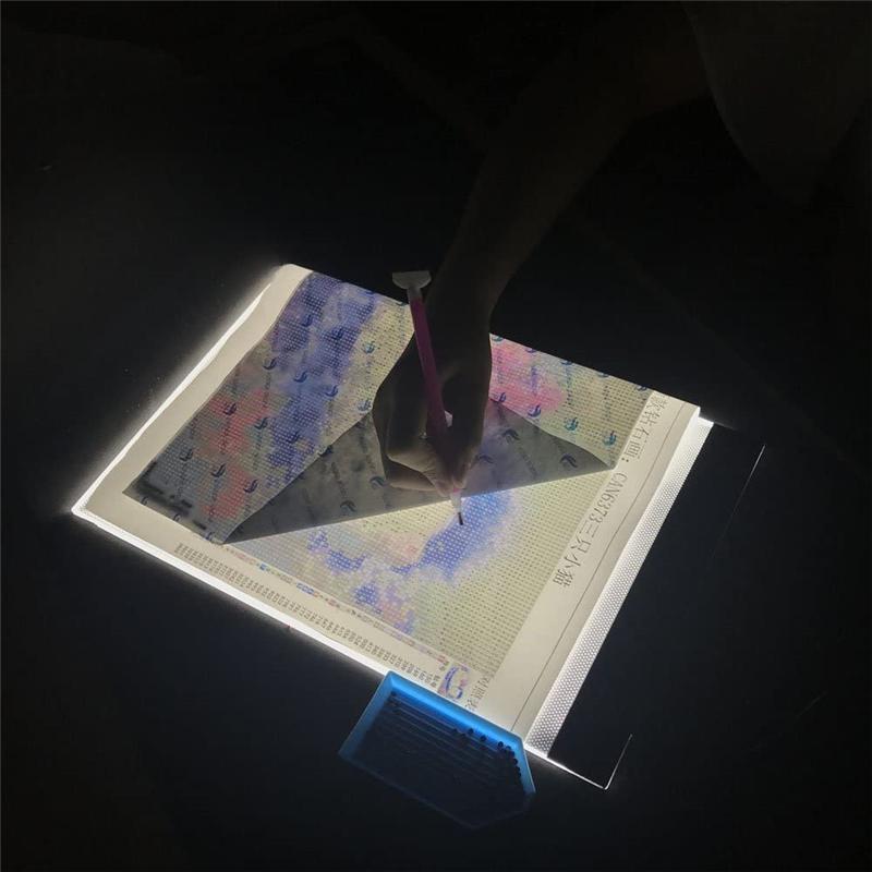 A4 LED Artcraft للبحث عن المفقودين وسادة الضوء عكس الضوء السطوع 5D DIY الماس لوحة رسم انطباعات الرسوم المتحركة DHE1261