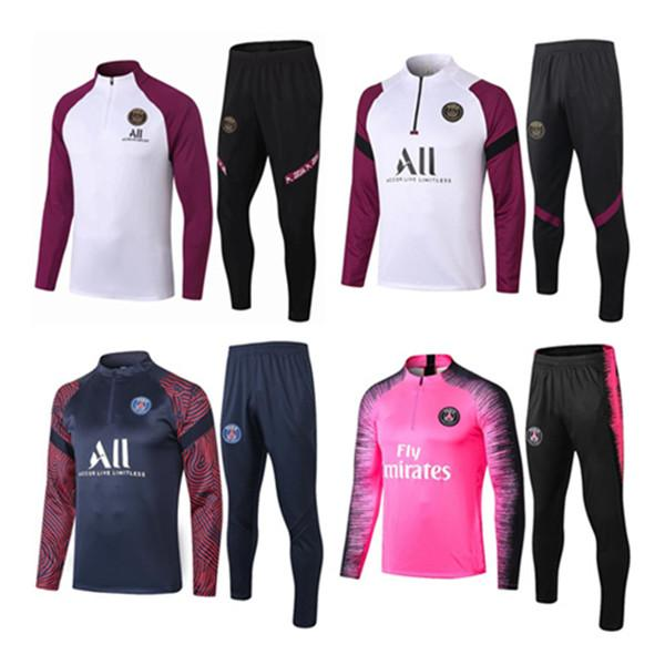 2020 2021 adult Jacket kit Soccer tracksuit set Paris tracksuits MBAPPE LUCAS HOME Football jacket kit Training training suit