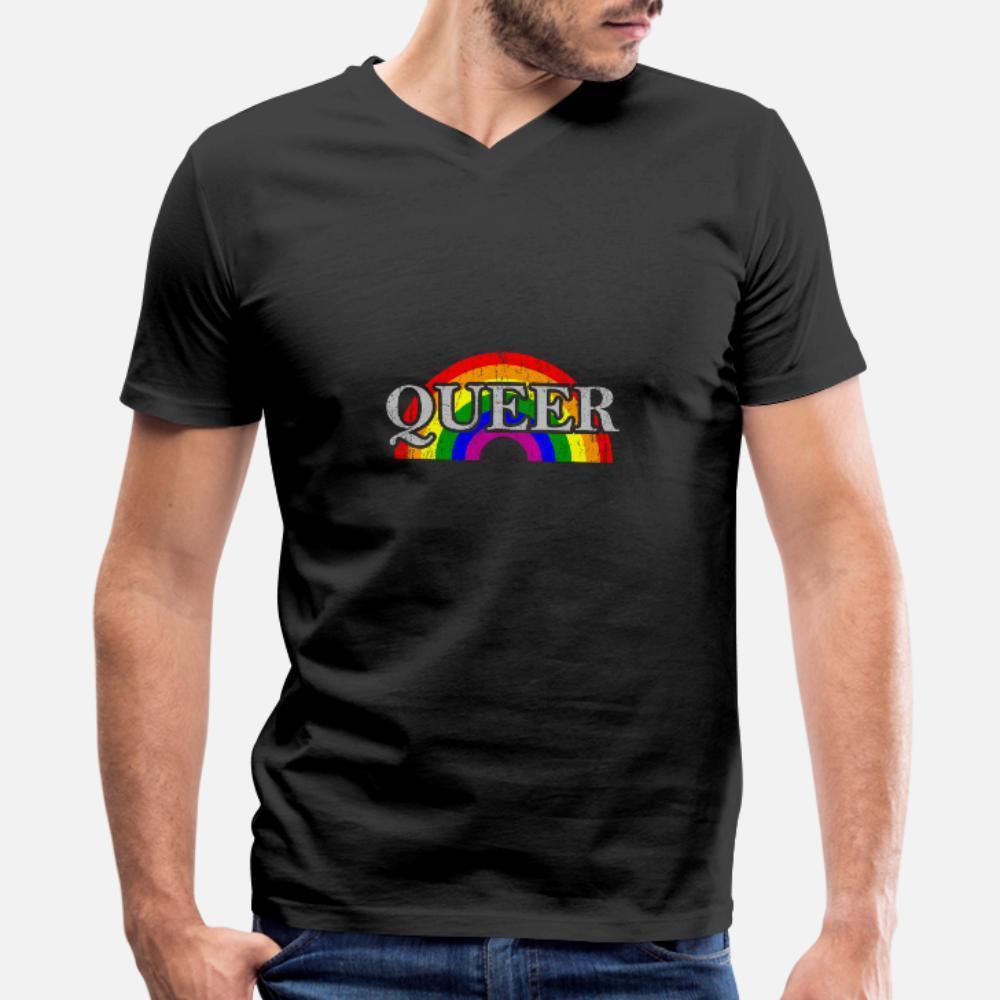 Queer Lgbt Arcobaleno regalo per Lesbiche Gay Pride uomini della maglietta Stampa tee shirt Kawaii autentica estate Interessante camicia S-XXXL famiglia