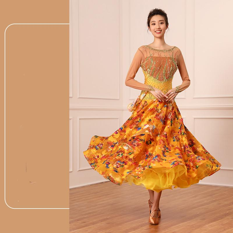 Ballroom Dancing Swing Dress Performance Ballroom Dance Dress New Waltz Costume Modern Dance-GB2204