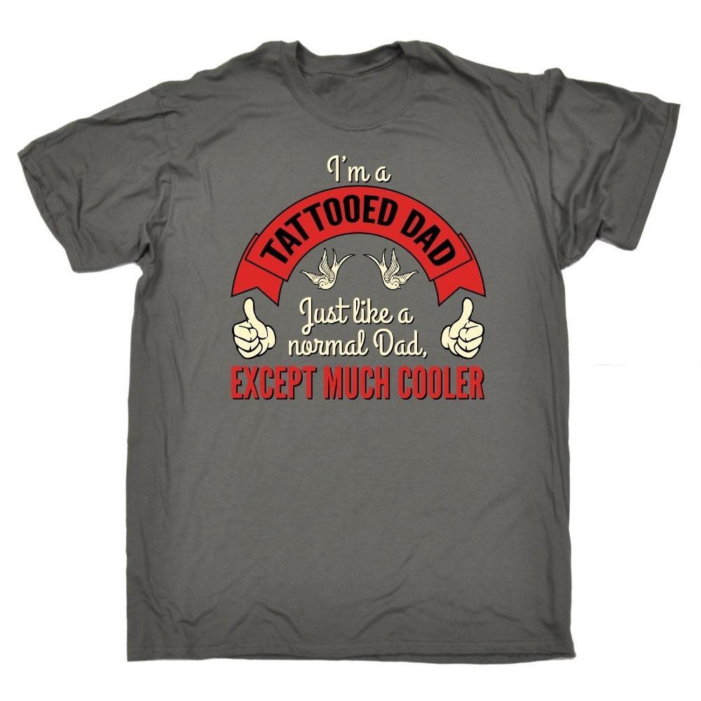 Новое прибытие Мужская футболка татуированный папа Кроме Много Cooler ФУТБОЛКА художник графический татуировка подарок на день рождения хип-хоп улице футболку