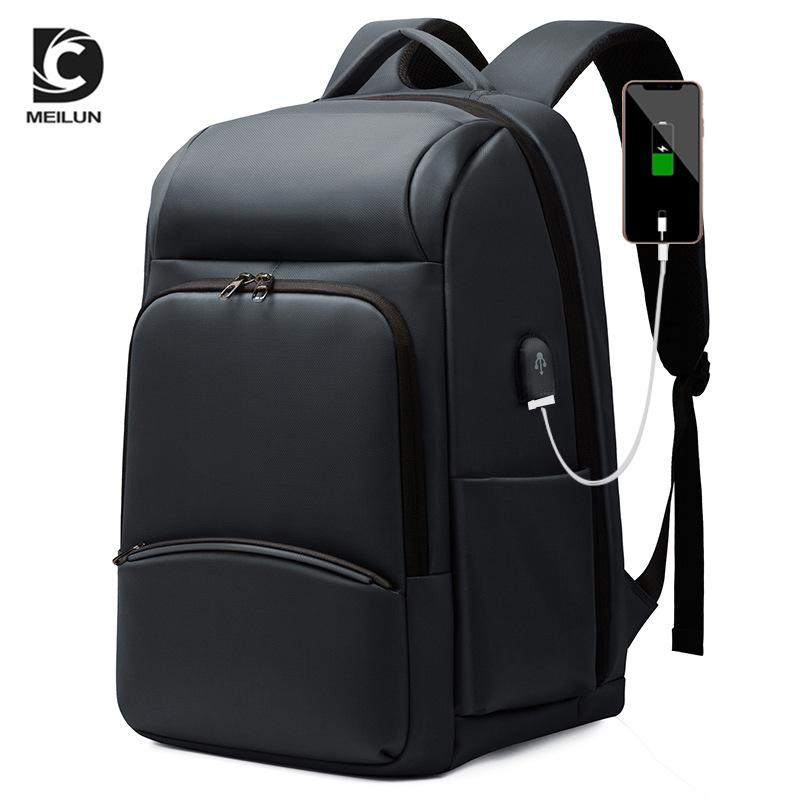 Leather Luggage Tag2020 Cross-Border Wear-Resistant Backpack USB Charging Large Capacity Travel Bag Oxford Cloth Bag Anti-Theft Computer Bag