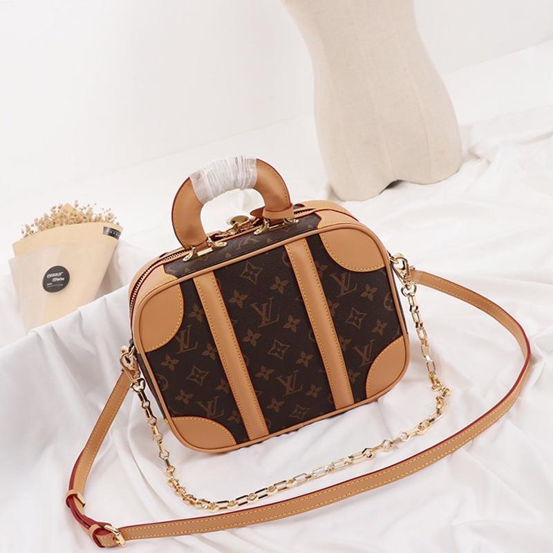 Borsa in pelle delle donne dell'annata di modo di Crossbody borse di lusso del progettista Zipper maniglia superiore Tote catena Trend borse a spalla con la scatola di vendita Origin
