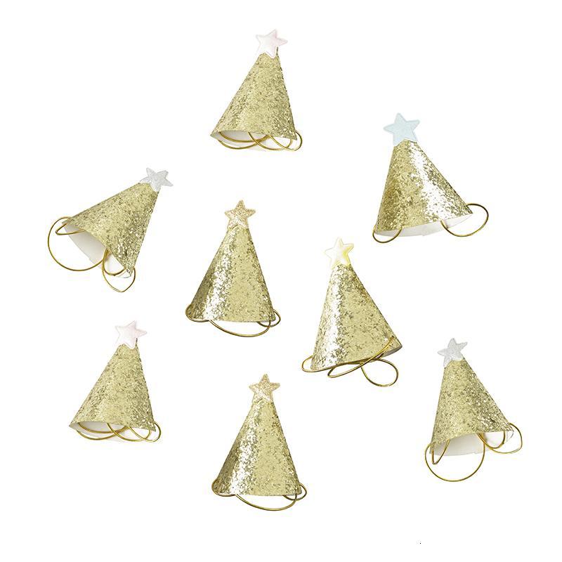 La fiesta de cumpleaños pequeña Little Star sombreros para los niños, animales domésticos o adultos, los accesorios del traje multicolor, S00188