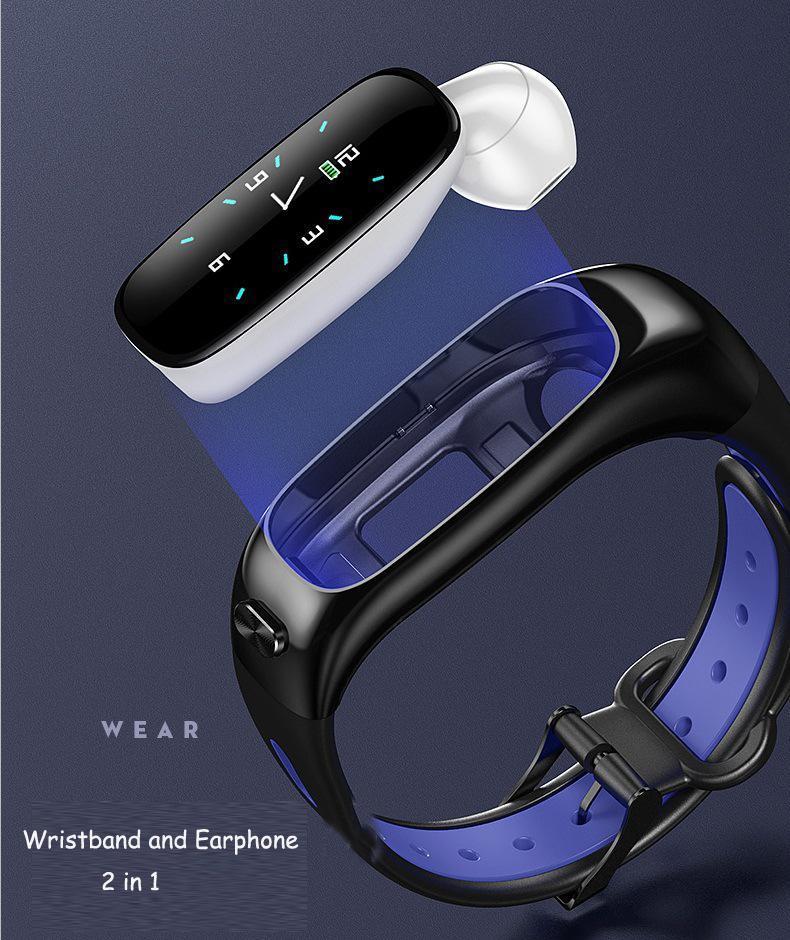 cgjxs2019 aptitud IP67 impermeabilizan la pantalla del auricular de Bluetooth del color de la presión en tiempo real del ritmo cardíaco Sangre Pasos Música Moda llamada inteligente Wristba