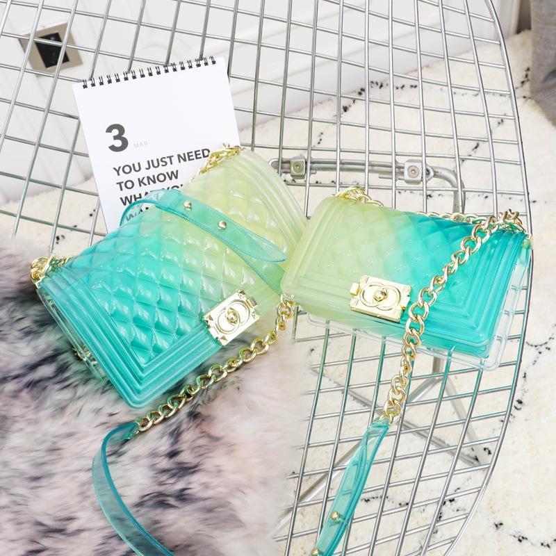 2019 nouveau style coréen épaule gelée toute correspondance de gradient rhodos style parfumé à la mode petit sac bandoulière petit sac de femmes