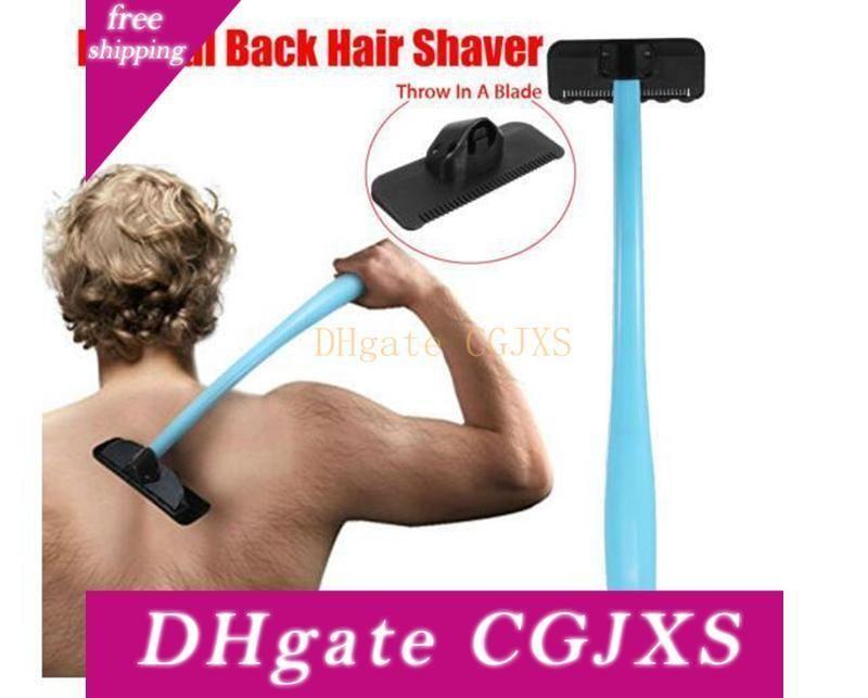 Plastic Manual Folded Back Hair Shaver Remover Long Handle Razor Men Shaving All Body Parts Hair Blade Remover