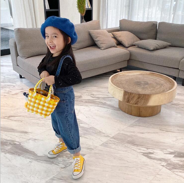 2020 2020 Yeni Kız Erkek Kot tulumları Sonbahar Moda Çocuk Jean pantolon 2 7t QW77 eDaz #