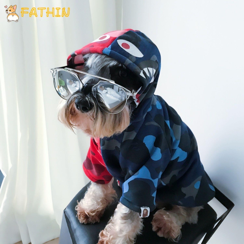 FATHIN Köpek Giyim Pupreme Pawmain Fransız Bulldog Gömlek Köpek Triko Spor Retro Chihuahua Kedi Pet Elbise S-XXL