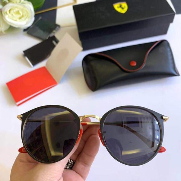 2020 occhiali da sole degli uomini delle donne del progettista di marca della struttura del metallo unico esagonale piatto Trattamento lente UV400 Occhiali da sole degli occhiali di protezione Eyewear con scatola e casi