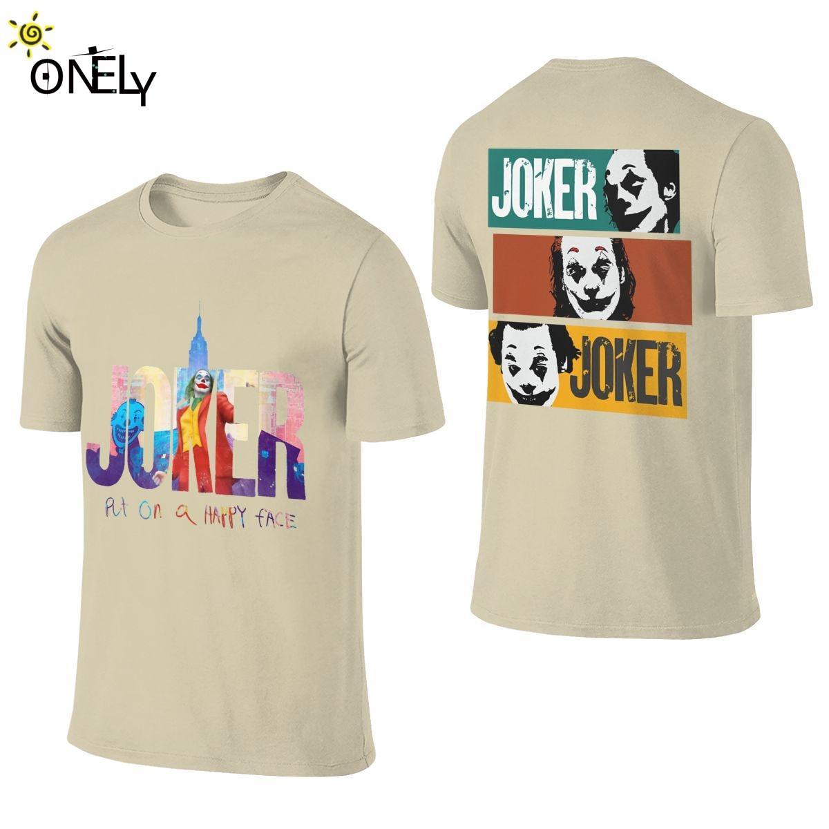 Doppelseitige Joker Filme T-Shirt beiläufige O-Ansatz Art und Weise des Mannes Retro Organic Cotton Plus Size T-Shirt
