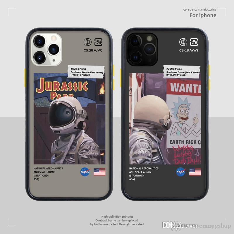 padrão de Designer de luxo engraçado retro Inglês caso letras telefone para iphone Xs MAX XR X 6 6s 7 8 mais tampa transparente de volta suave TPU