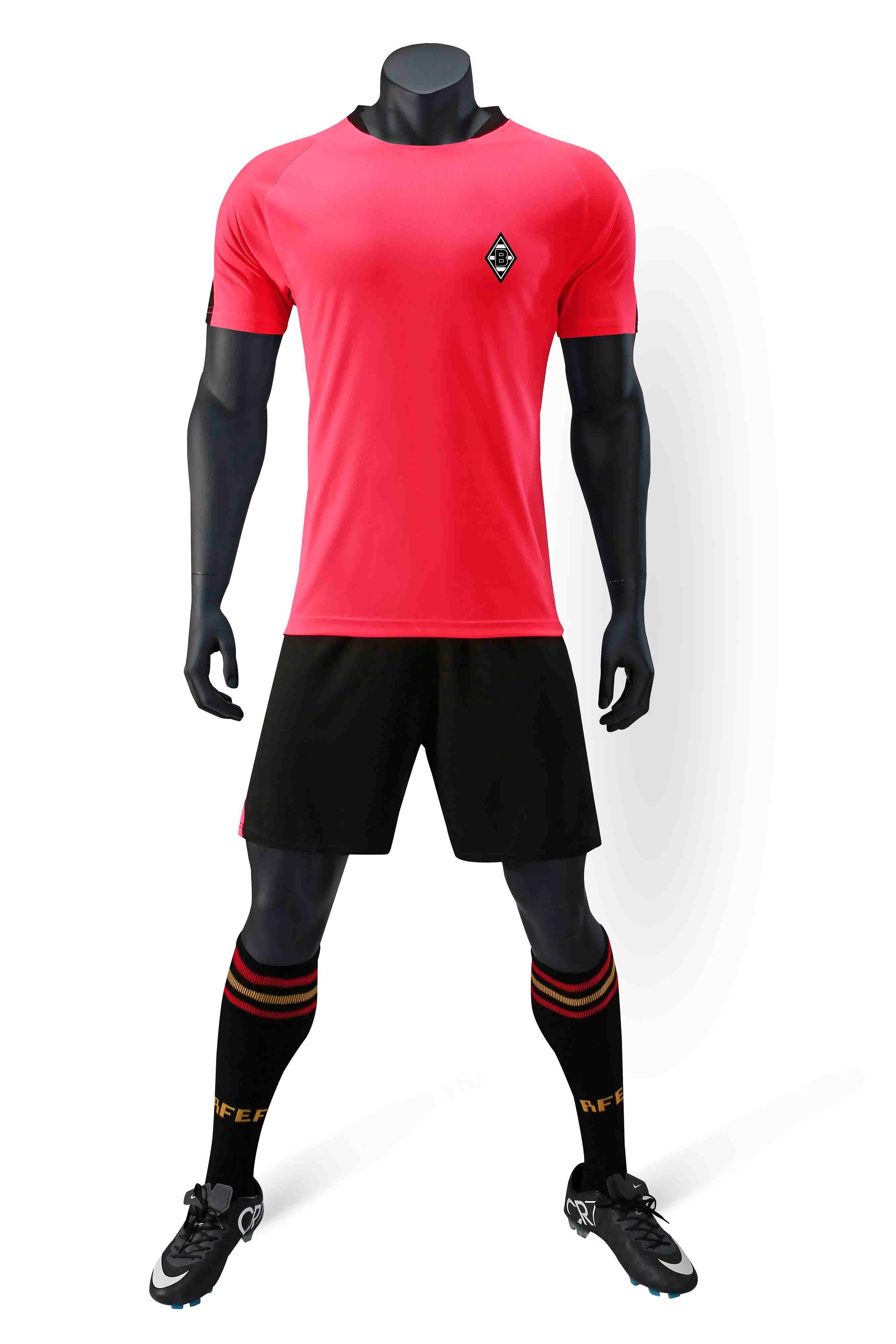 VFL Borussia Mönchengladbach 100% Polyester Spor Yeni Desen Rahat T-Shirt Futbol Eşofman Eğitimi Trendy Erkek Futbol Eşofman