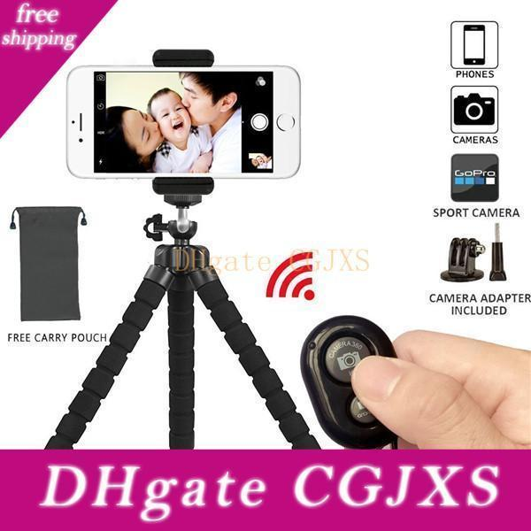 Tripod Stand Holder ,Flexible Mini ,With Bluetooth Wireless Remote Shutter And Universal Clip For Iphone Phone ,Ipad ,Digital Camera ,Gopro