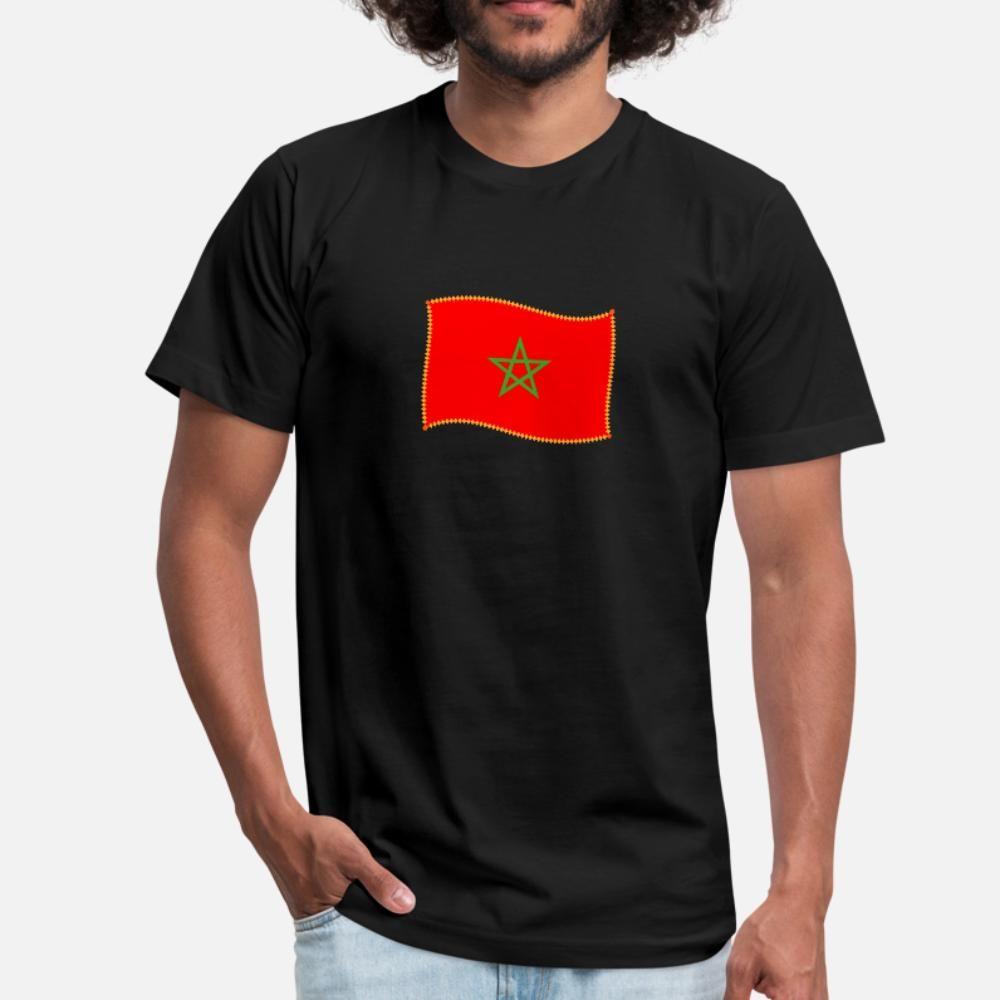 Maroc T shirt da uomo Personalizza Tee Shirt Euro Size S-3XL di svago La luce del sole casual shirt Primavera Autunno standard