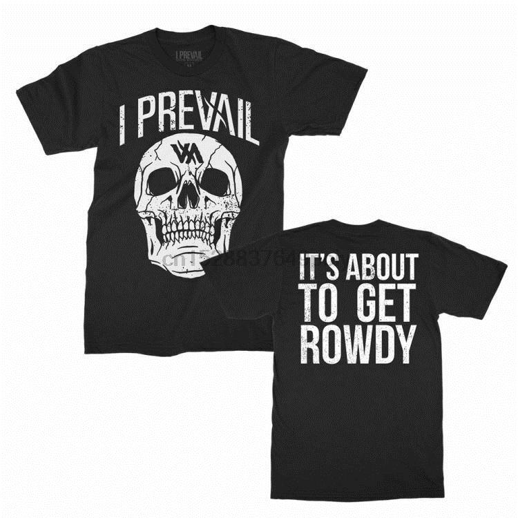 I Prevail Rowdy Skull T Shirt S M L Xl 2Xl New Official Kings Road Merchandise