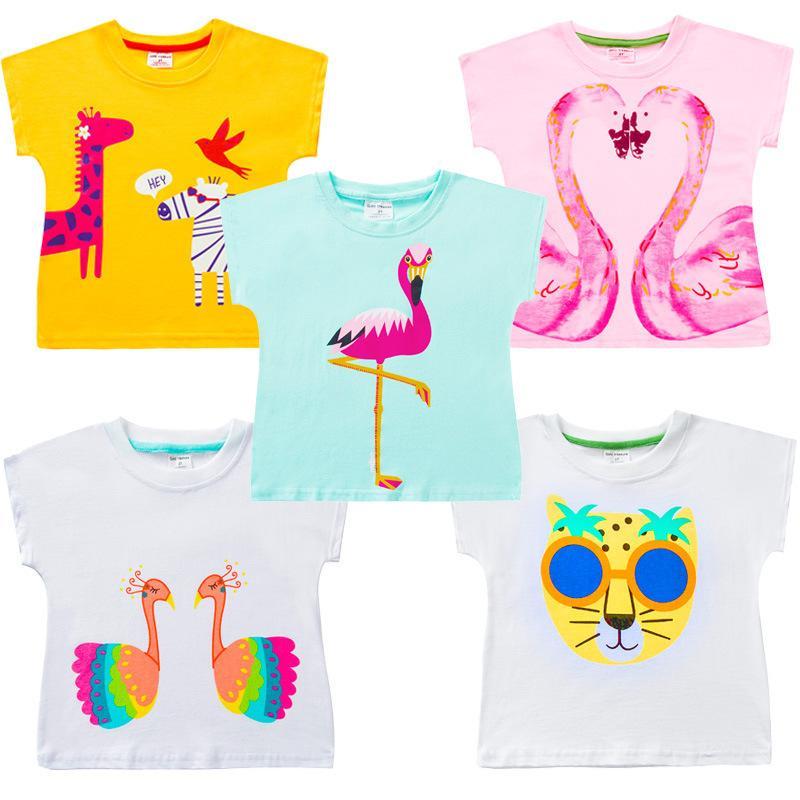VIDMID 2-10 лет ребенок футболки большие девочки футболка для детей девочек блузки продажи тенниски 100% хлопок дети летней одежды