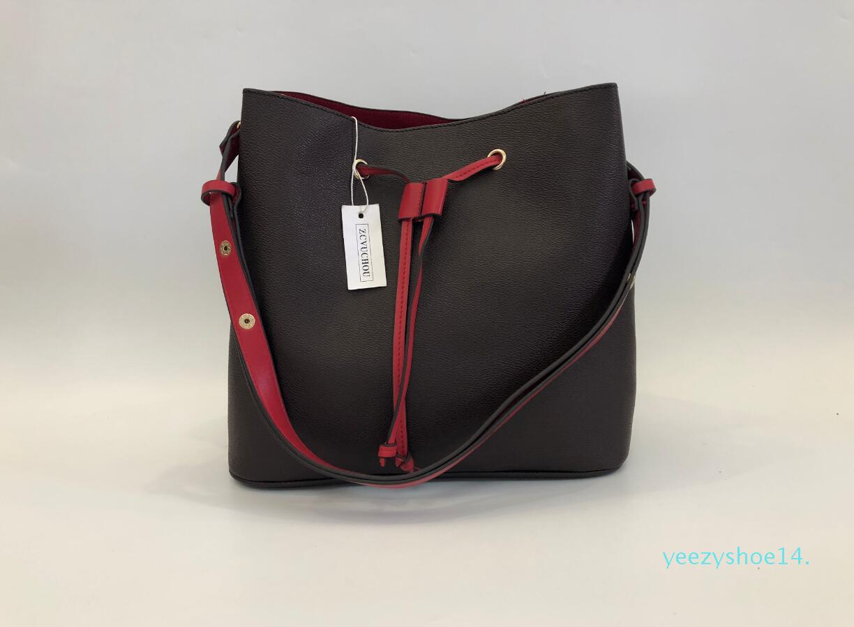 Y14 2020 Ombro Couro PU Cruz Body Bags para Womens Girl Fashion simples portátil Lazer Bucket Bag frete grátis