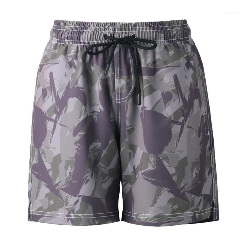 Lässige mittlere Taillen-Camouflage Mens-Sommer-Kleidung Designer Strandshorts lose elastische Taillen-Homme Shorts Mode Entspannt