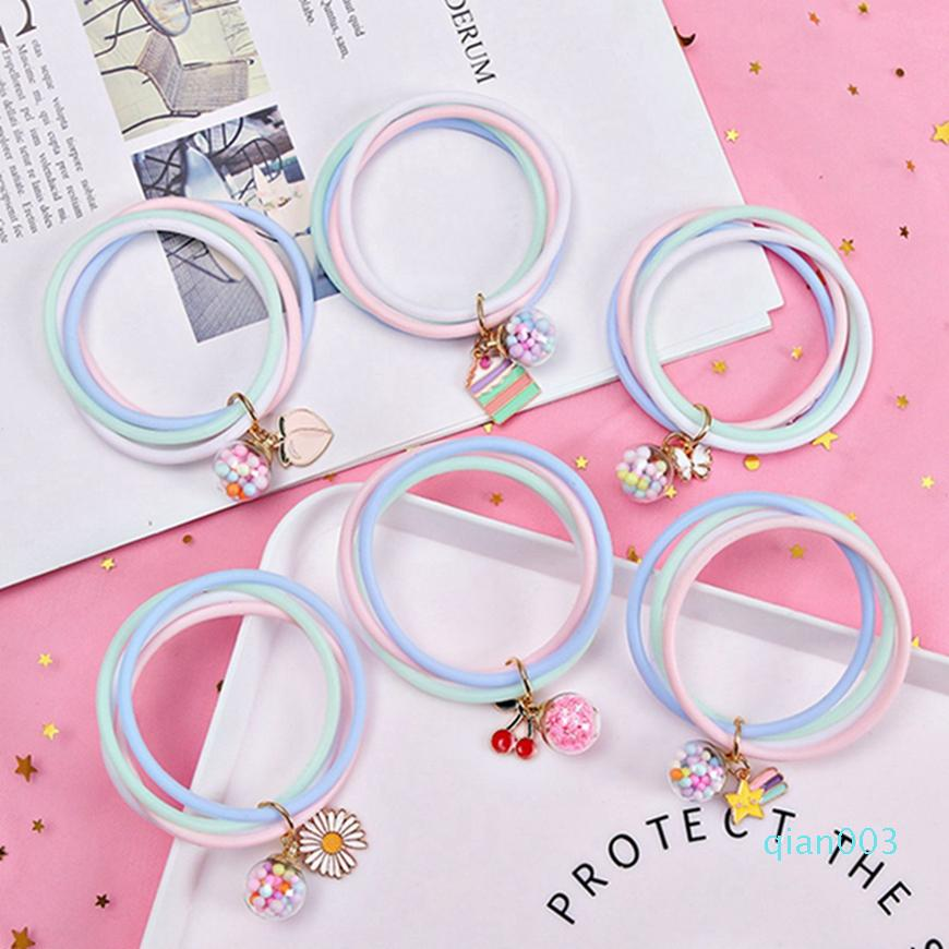 Adulti repellente della zanzara Bracciali naturali e bambini Anti repellente della zanzara del braccialetto del silicone di colore della caramella con il pendente Estate HHA1275