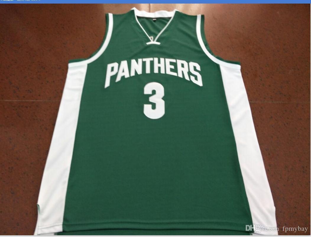 las mujeres de Hombres jóvenes rara verde Pantherss # 3 A.Davis Jersey Escuela de Baloncesto del tamaño S-6XL o costumbre cualquier nombre o el número del jersey