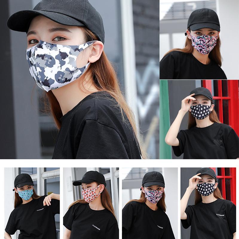 ABD Stok! Ücretsiz Kargo Lüks Parti Yüz Yıkanabilir toz geçirmez Respiratörü 3D Erkekler Ve Kadınlar FY9047 için Moda Maskeler yazdır Maske