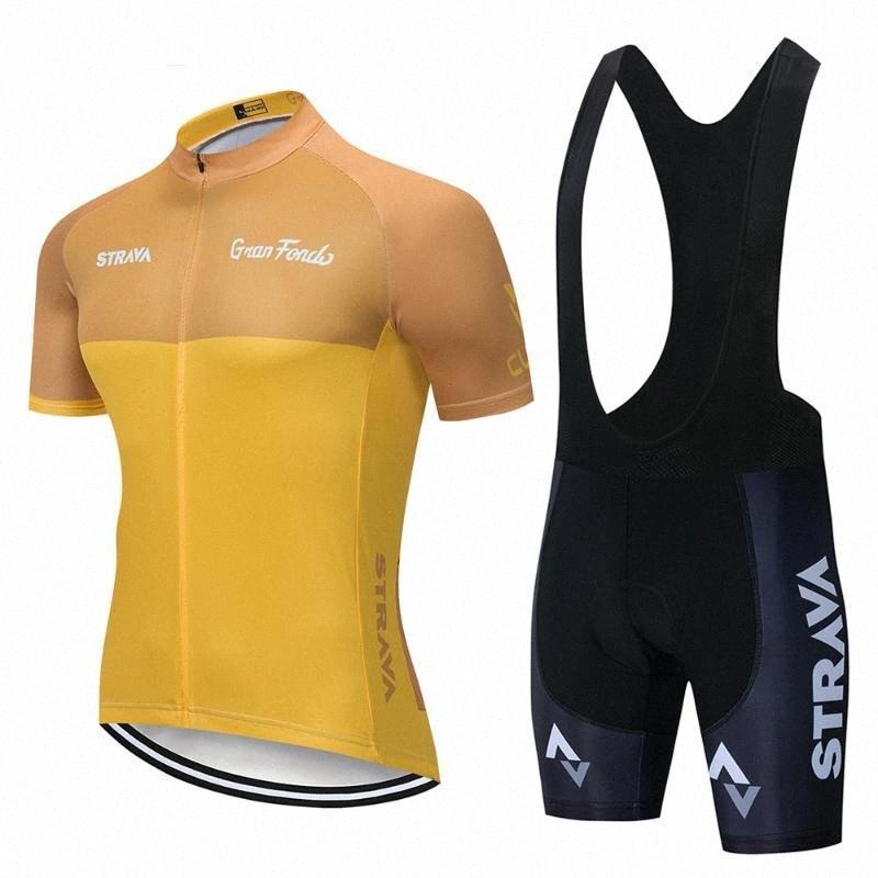 Jersey de ciclo Pro Team 2020 strava verano Uniformes ropa de ciclo de la bicicleta ropa de la bici de montaña situado Hombres Traje 9D gel de Pqwt #