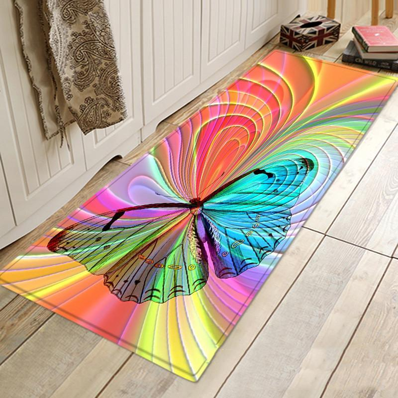 Butterfly Pattern Carpets Area Rugs Non Slip Floor Mat 3D Printed Large Carpet Home Bedroom Living Room Decoration Carpet