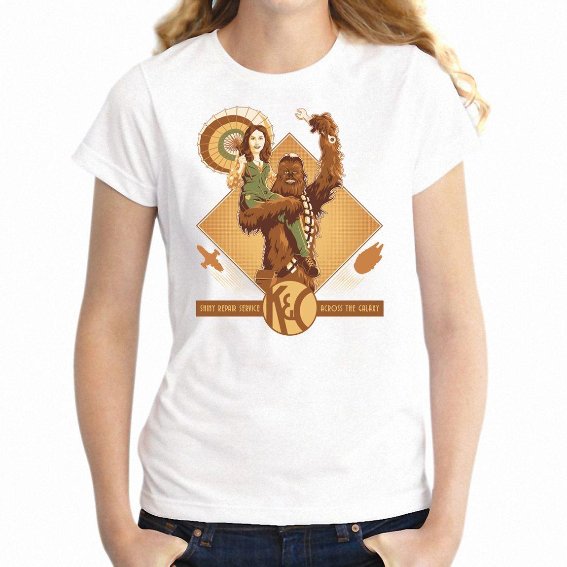 T Shirt Raum Mechanics Chewbacca Chewie Und Kaylee Firefly Nerdy Mädchen T-Stück
