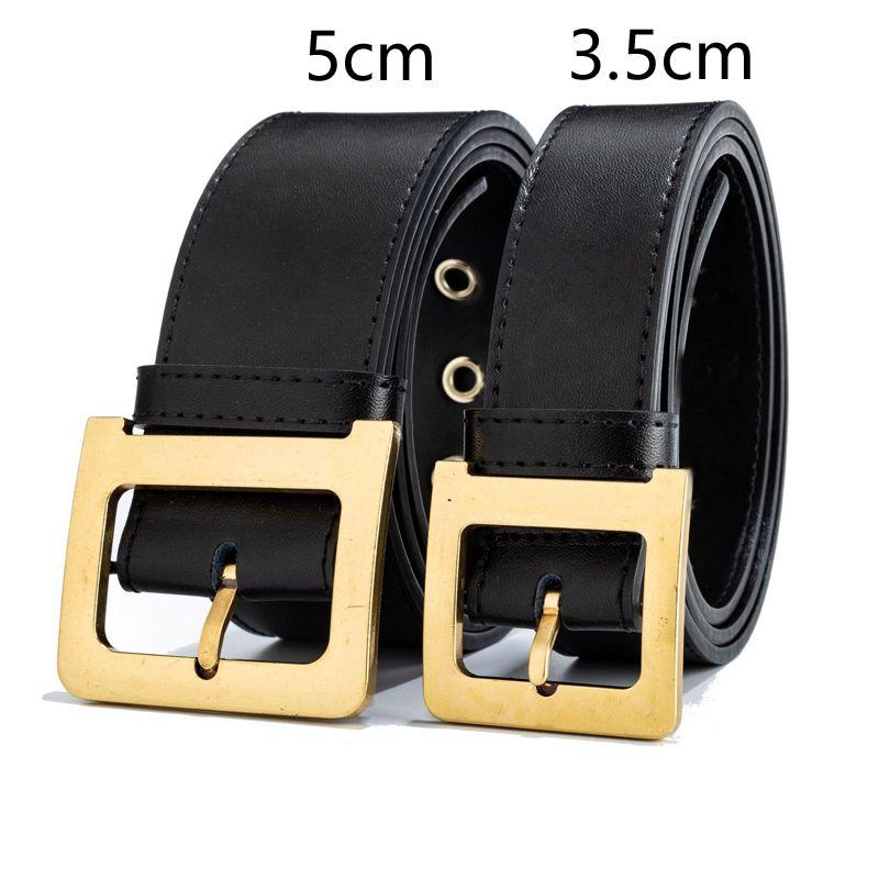 2020 Verano Nuevo Cinturones de cuero genuino de lujo DISEÑADOR DE LUJO D Metal D Hebilla Cinturón Vestido Mujeres Retro Vintage Cinturón grande para Jeans