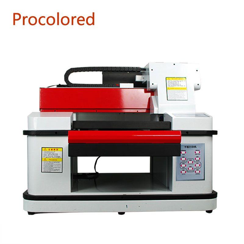 Procolored automática del color 12 DTG Impresora LED UV plana 3360 A3 + Tamaño de inyección de tinta impresora de la camiseta para el logotipo Foto Camisetas