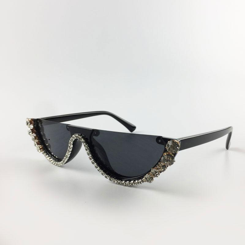 luxury diamond cat eye shades sunglasses women 2019 unique designer clear sun glasses fashion style sunglasses uv400 lunettes de soleil de l