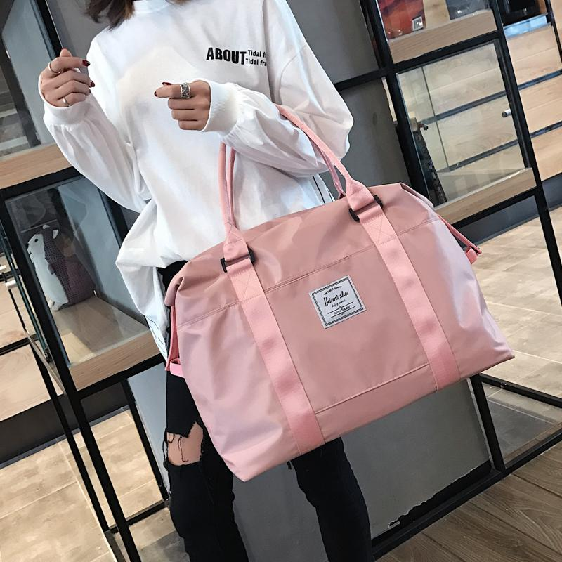 Top Oxford Pink Travel Handbag Carry on Luggage Shoulder Bags Men Duffle Bag Women Travel Tote Large Weekend Bag Overnight Bolsa 200921