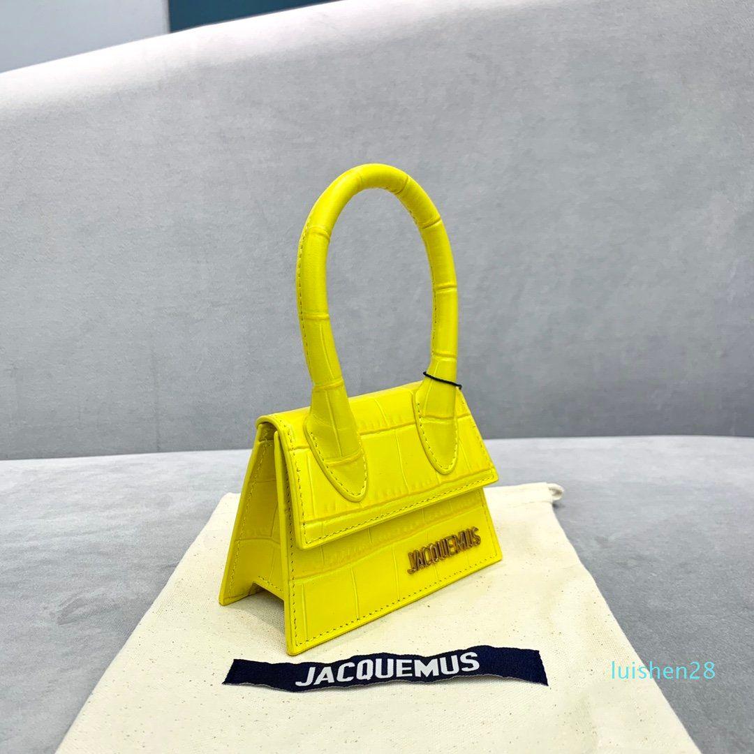 뉴스 디자이너 브랜드 핸드백 Jacquemus 미니 아내와 딸이 좋아하는 선물 악어 패턴 어깨 메신저 여성 크로스 바디 백 L28