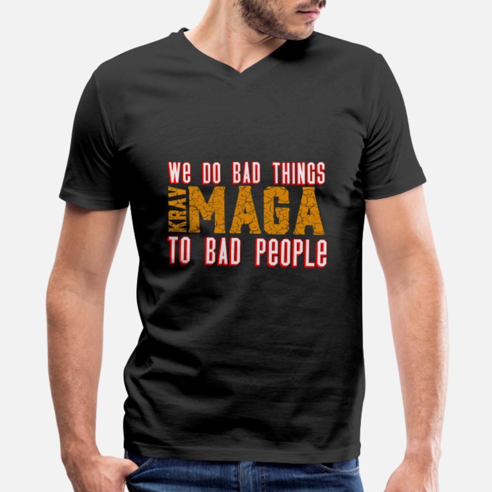 Крав Мага T Shirt Men Печать Tee Shirt S-3XL Letters Graphic Комфортная весна осень отдых рубашка
