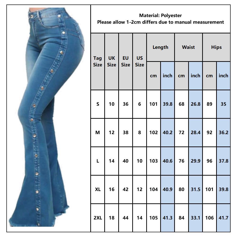 Compre Las Mujeres Del Dril De Algodon Pantalones Acampanados De Las Senoras Atractivas De La Nueva Manera Delgada De Talle Alto Ancho Flaco D30 Leg Jeans Summer Long Bolsillo Del Pantalon Mujer