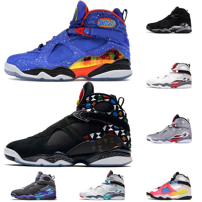 2020 DOERNBECHER Jumpman 8 8s Quai Mens Basketball Shoes Top Quality Chrome SE White Multicolor designer Trainers Sneakers size13