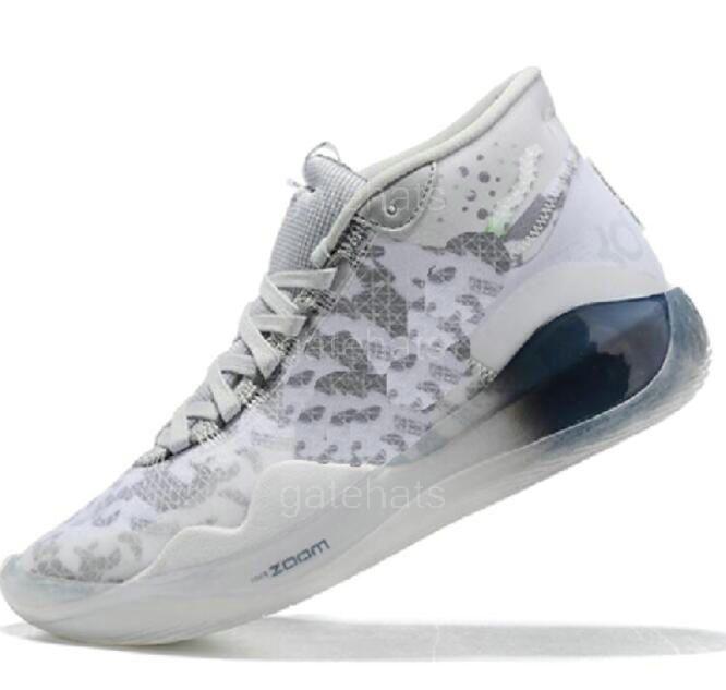 Pas cher Kevin Durant KD 12 Université anniversaire 12s XII Oreo Chaussures Hommes Basket USA Elite KD12 EYBL Caméléon Luxe Sneakers A49