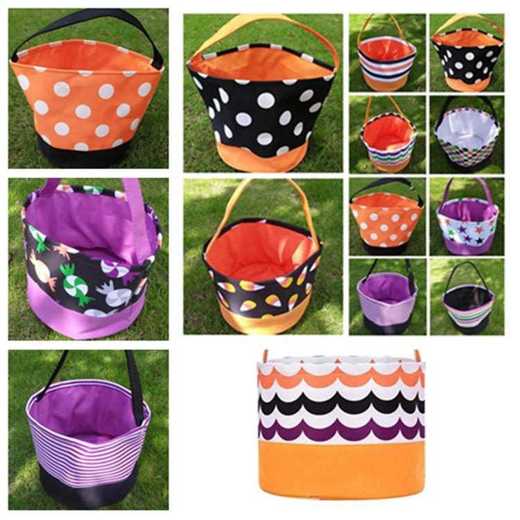 Хэллоуин ведро Подарочные Wrap Девочка Мальчики Ребенок Candy коллекция сумка Хэллоуина фестиваль сумки для хранения корзины для вечеринок T2I51388