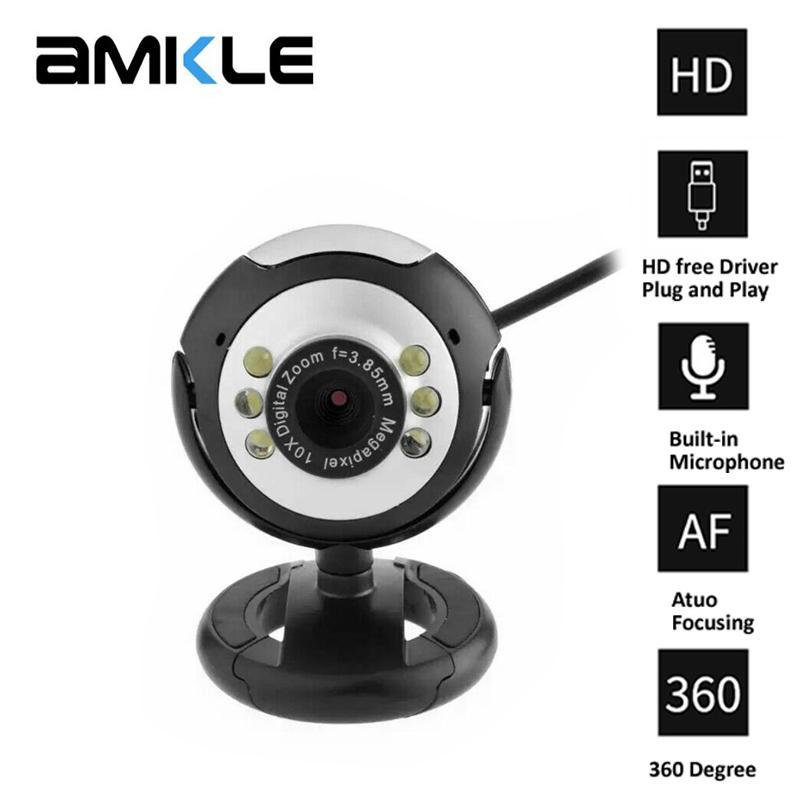 HD USB веб-камера 16 Мп камера с микрофоном ночного видения веб-камеры для портативных ПК Веб-камера Веб-камера PC Video Calling компьютера Камеры