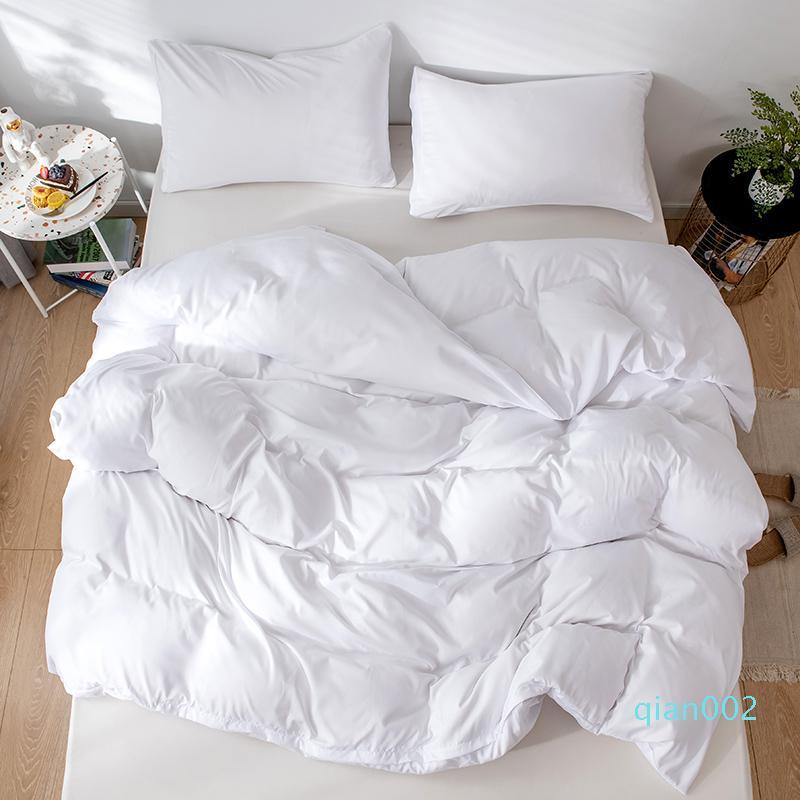 Lijado Tela color sólido Textiles para el hogar del lecho cómodo suave de la cubierta de edredón funda de almohada 2 / 3pcs funda nórdica Ropa de cama